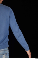 Hamza arm blue sweatshirt dressed upper body 0005.jpg